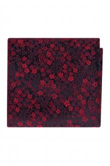 Apple Red Floral Pocket Square