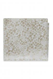 Champagne Floral Pocket Square