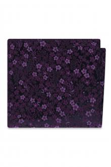 Plum Floral Pocket Square