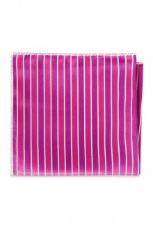 Begonia Striped Pocket Square