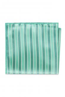 Turquoise Striped Pocket Square