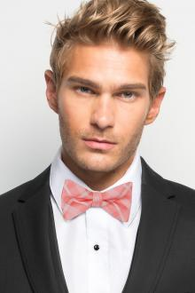 Coral Reef Plaid Bow Tie