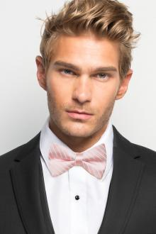 Tea Rose Striped Bow Tie