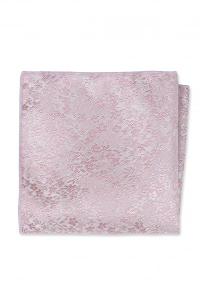 Dusty Rose Floral Pocket Square