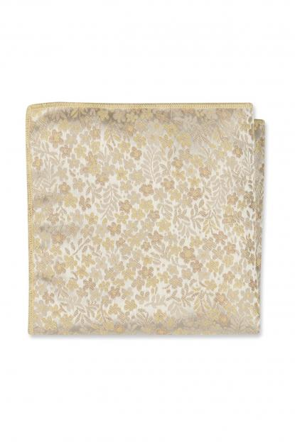 Golden Floral Pocket Square