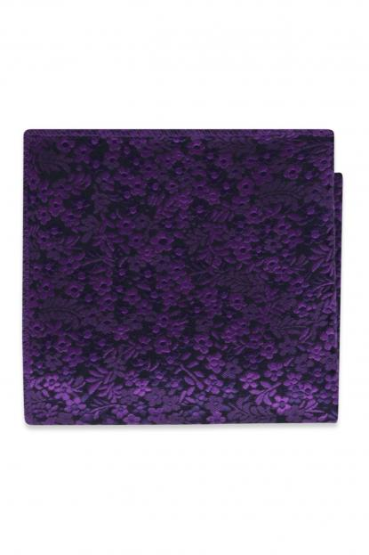 Viola Floral Pocket Square