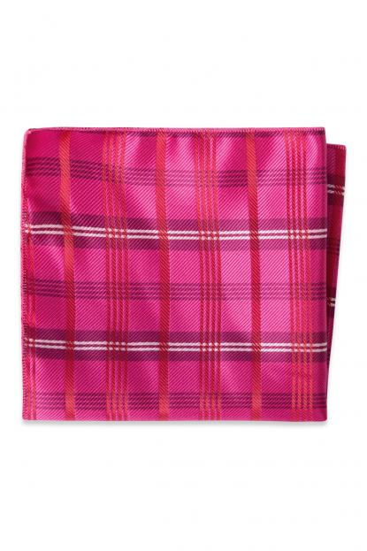 Fuchsia Plaid Pocket Square