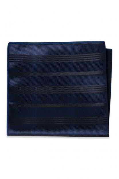 Navy Plaid Pocket Square