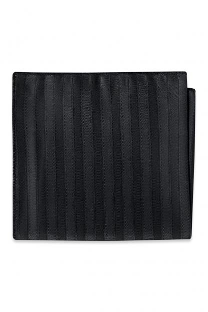Black Striped Pocket Square