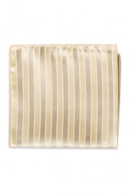Champagne Striped Pocket Square