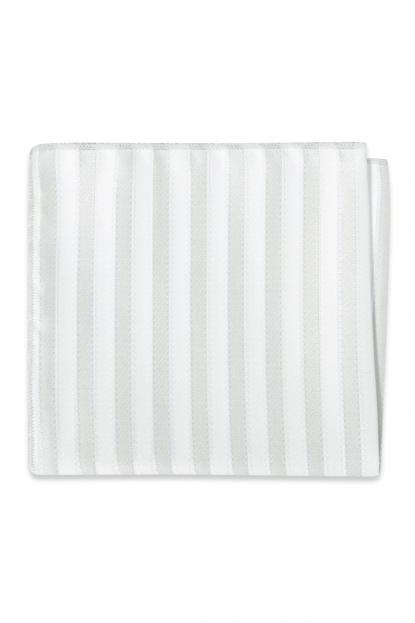Grey Striped Pocket Square