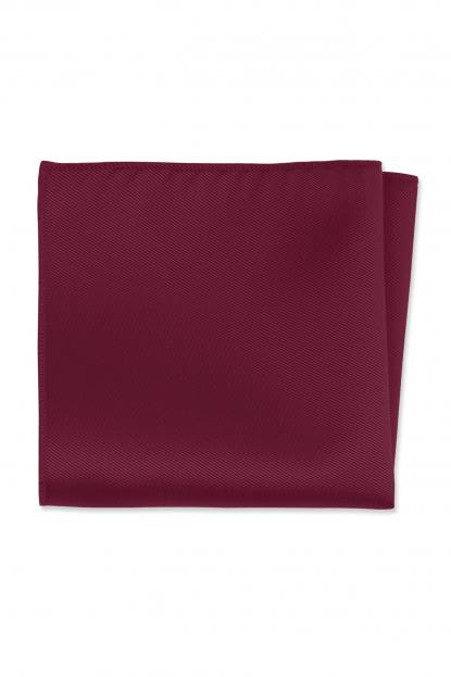 Expressions Cranberry Pocket Square