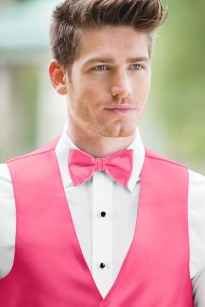 Expressions Brite Pink Bow Tie