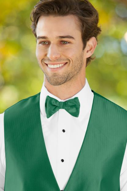 Herringbone Emerald Green Bow Tie