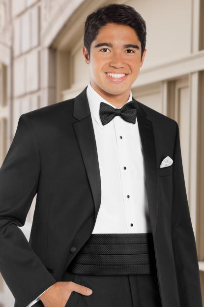 Dot Black Cummerbund
