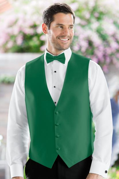 Herringbone Emerald Green Vest