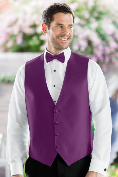 Herringbone Persian Plum Vest
