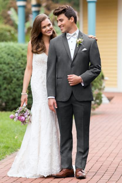 Ultra Slim Steel Grey Sterling Wedding Suit