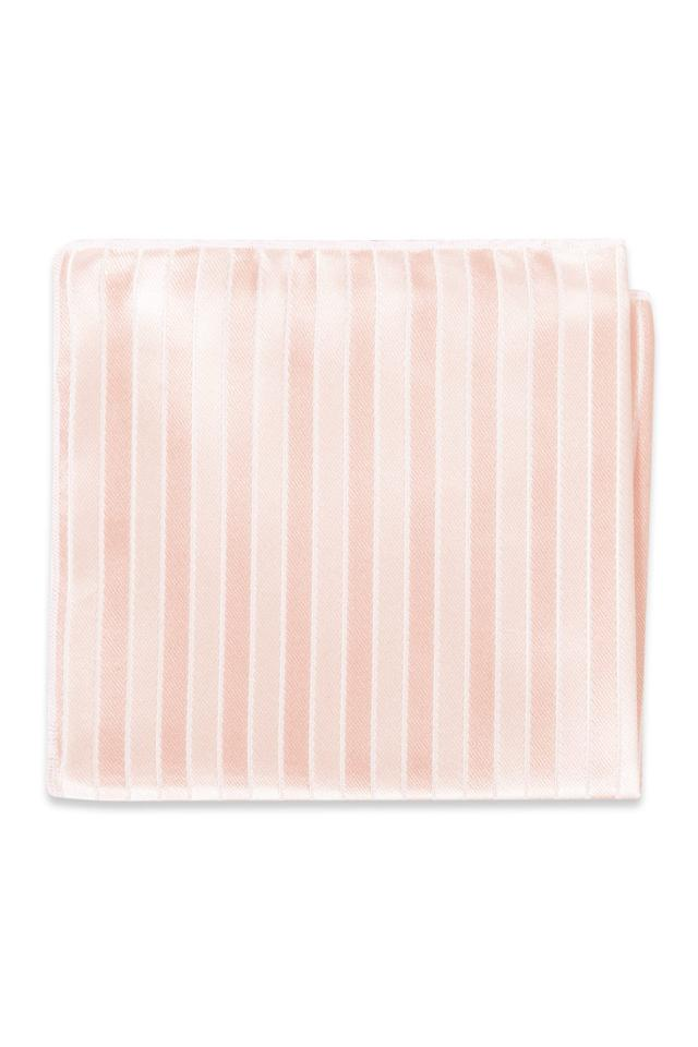 Blush Striped Pocket Square