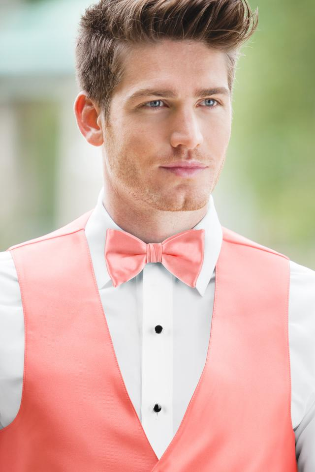 Expressions Coral Bow Tie