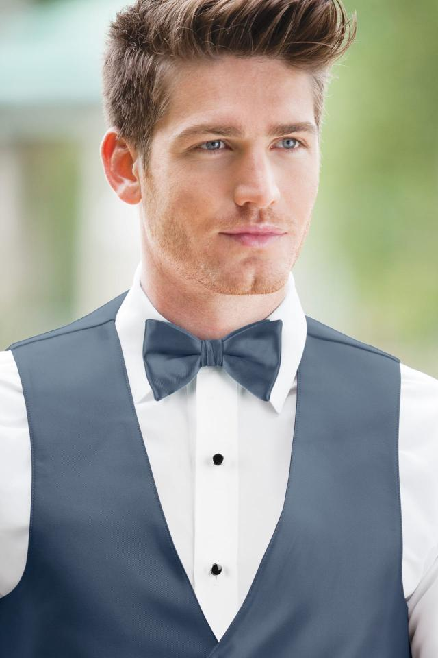 Expressions Slate Blue Bow Tie