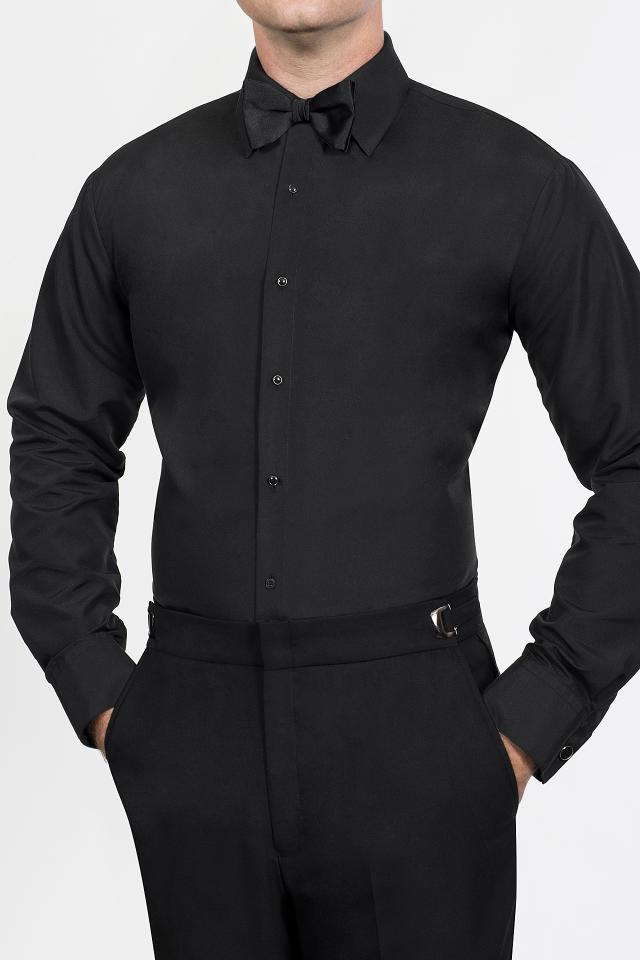 Black Fitted Microfiber
