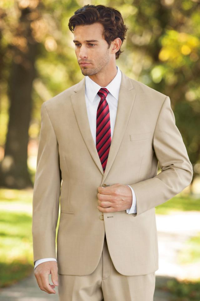 Lord West Tan Havana Slim Fit Suit