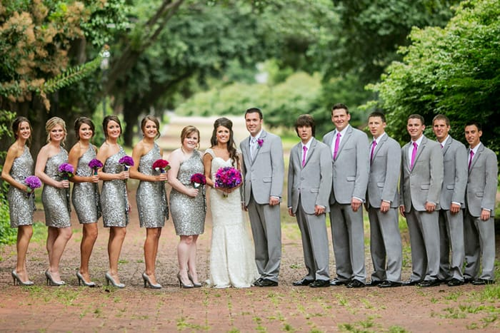 Real Wedding with Gray Tuxedo