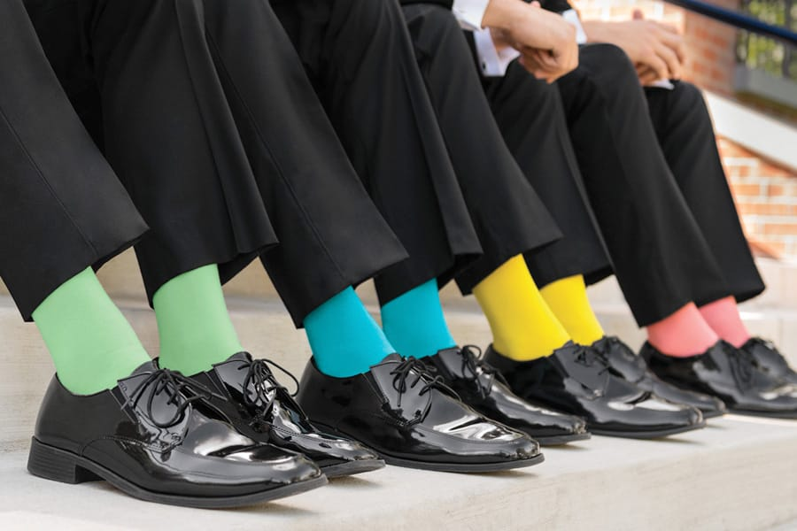 Colored Socks for Tuxedo and Suit Rentals