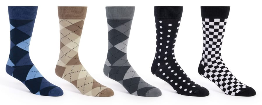 Patterned Socks for tuxedo and suit rentals