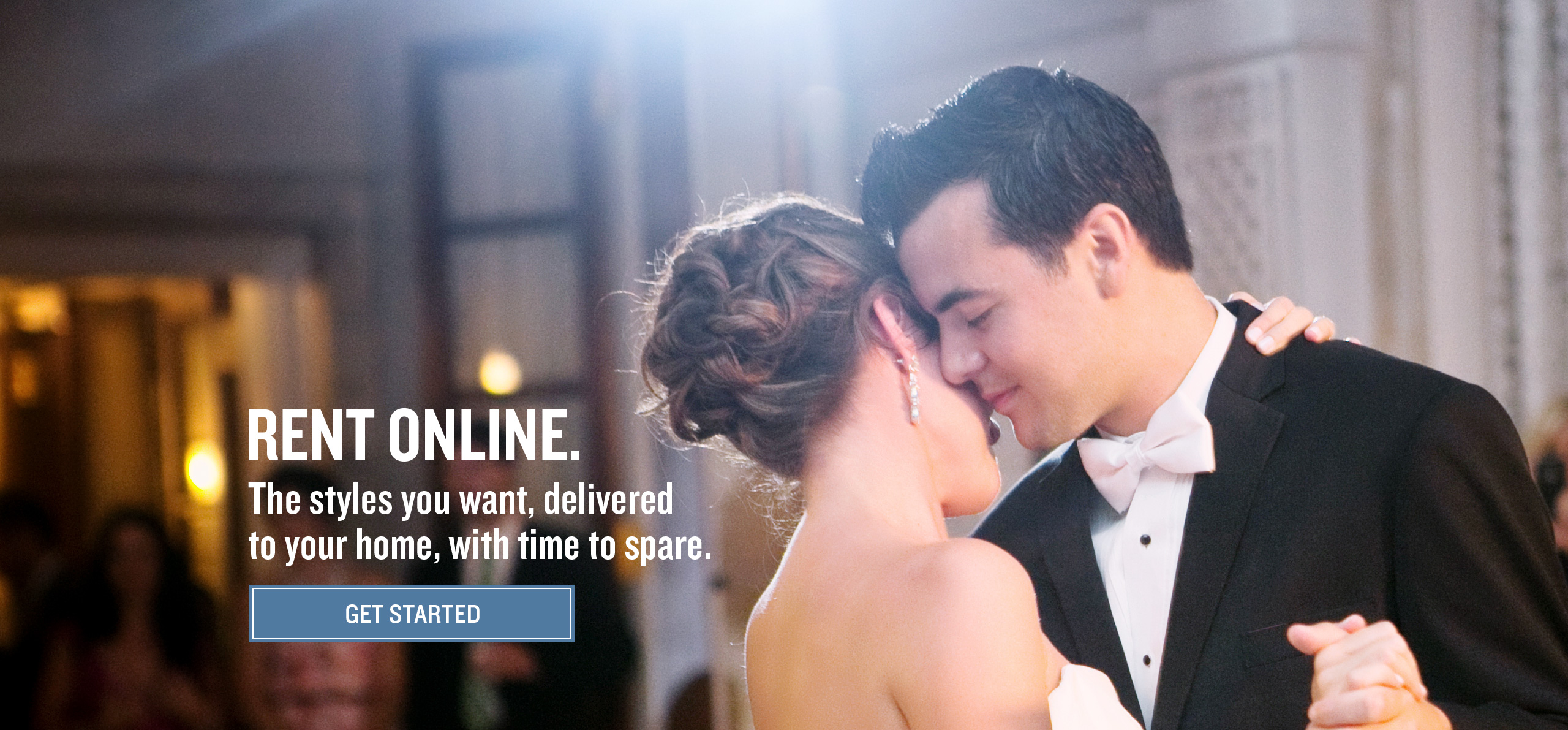 Browse our selection of tuxedos and suits for online rental.